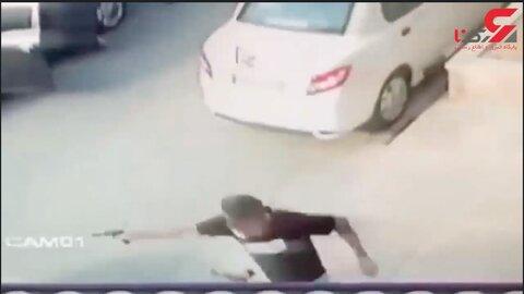 تیراندازی خونین و وحشتناک در خیابان سعادت آباد به خاطر یک دختر + (ویدئو ۱۶+)