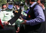 قمه عجیب اوباش در دست فرمانده انتظامی تهران