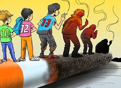 سن مصرف دخانیات به ۱۳ سال رسید! / کاریکاتور